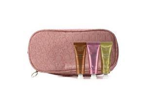 Clarins 16192380314 Soft Cream Eye Color Set - No.03 Sage, No.07 Sugar Pink, No.08 Burnt Orange - With Double Zip Pink Cosmetic Bag - 3pcs Plus 1bag