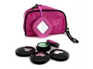 Anna Sui 16327068114 Eye Color Set - 3x Eye Color Accent Plus 1x Eye Gloss Plus Pink Cosmetic Bag - 4pcs Plus 1bag