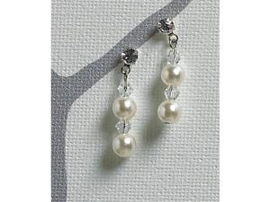 Weddingstar 8762 Illusion Set Pearls and Crystals Bracelet