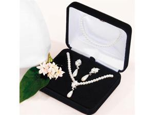 Weddingstar 8301 Double White Pearls with Pearl Drop 3 Peice Set