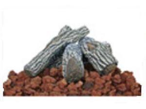 Import LOG-KIT Lava Rocks & Log Kit For Gas Burning Fire Pits