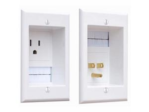 PowerBridge Solutions ONE-CK Cable Management System with PowerConnect for Wall-Mounted TVs