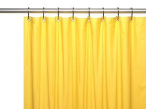 Carnation Home Fashions USC-8-85 8-gauge Anti Mildew Shower Curtain Liner, Canary Yellow