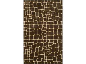 The Rug Market 72301E CROC BROWN AREA RUG