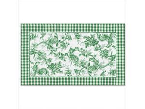 The Rug Market 16154E ROOSTER TOILE GREEN AREA RUG