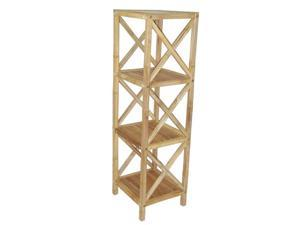 Bamboo Fifty Four 5850 4 tier bamboo rack square bamboo