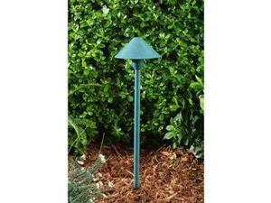 Dabmar Lighting LV41-AG Brass Path, Walkway and Area Light, Acid Green