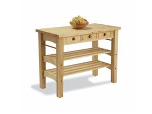 Snow River Products 7V04050 Work Center Kitchen Island - Maple
