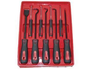 ATD Tools 8424 9 Pc. Scraper, Hook And Pick Set