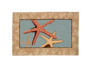 Homefires PY-PB019 Carefree Starfish Rug - Multi