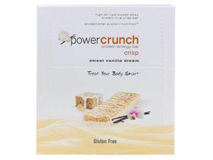 Power Crunch Protein Bars - Chocolate Sweet Vanilla Dream - 40 grm - Case of 12 - 1499839