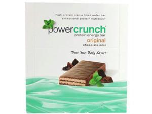 Power Crunch Protein Bars - Chocolate Mint Original - 40 grm - Case of 12 - 1499854