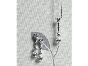 Weddingstar 8745 Cubic Zirconia Pear Drop Pendant Necklace
