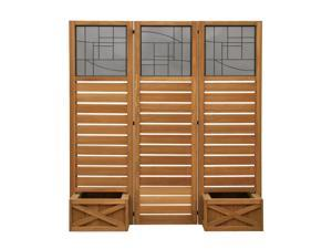 Yardistry YM11658 Garden Screen with Planter Boxes