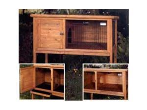Precision Pet 2910-3LARGE Extreme Solid Wood Rabbit Shack - Large - 48 x 24 x 46 Inch