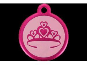 Red Dingo 05-CR-HP-SM QR Tag Introductory Crown Hot Pink, Small