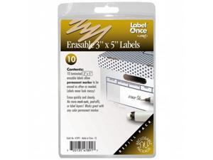 Jokari-US 47891 Erasable 3in.x5in. Labels Refill- 10 labels