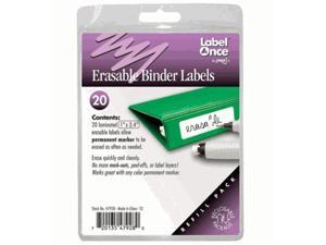 Jokari-US 47928 Erasable Binder Labels Refill- 20 labels