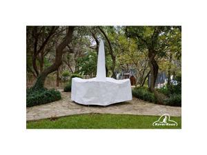 KoverRoos 21361 DuPont Tyvek Large High Back Dining Set Cover with umbrella hole, White - 112 L x 88 W x 36 H in.