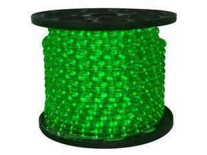 Queens of Christmas C-ROPE-LED-GR-1-10 150 ft. Spool 10mm Green LED Rope Light with 1 in. Spacing, 36 in. Cut Length
