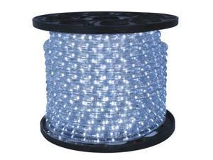 Queens of Christmas C-ROPE-LED-PW-1-10 150 ft. Spool 10mm Pure White LED Rope Light with 1 in. Spacing, 36 in. Cut Length