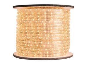 Queens of Christmas C-ROPE-LED-WW-1-10 150 ft. Spool 10mm Warm White LED Rope Light with 1 in. Spacing, 36 in. Cut Length