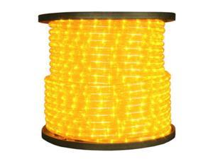 Queens of Christmas C-ROPE-LED-YE-1-10 150 ft. Spool 10mm Yellow LED Rope Light with 1 in. Spacing, 36 in. Cut Length
