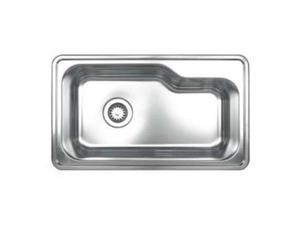Whitehaus Collection  WHNDB3016 33.50 in. Noahs Collection single bowl drop-in sink- Brushed Stainless Steel