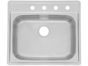 Franke Kindred SSK854NB 25 in. X 22 in. X 8 in. Stainless Steel Single Sink