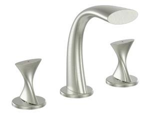 Ultra Faucets UF55513 2 Handle Brushed Nickel Lavatory Widespread Faucet