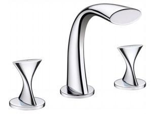 Ultra Faucets UF55510 2 Handle Chrome Twist Collection Lavatory Widespread Fauce
