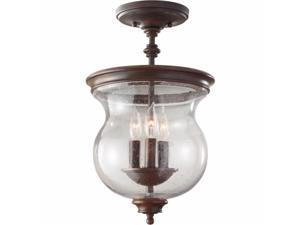 Feiss SF309HTBZ Pickering Lane 3 Light Semi Flush Mount