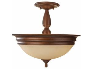 Feiss SF310PRBZ Yorktown Heights 3 Light Semi Flush Mount