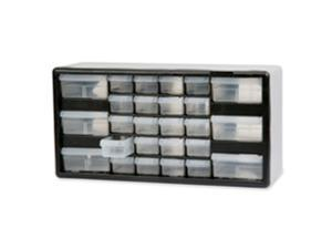 Akro-Mils AKM10126 Stackable Cabinet- 26 Drawers- 20in.x6-.38in.x10-1.332in.- Black-Gray