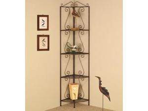 4 TIER CORNER SHELF GOLDISH COPPER