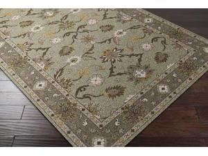 Surya Rug CAE1126-4RD 4 ft. Round Black and Gray Hand Tufted Area Rug