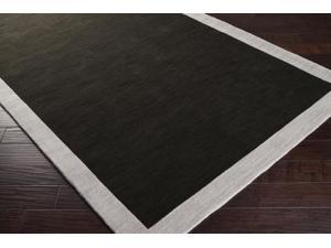 Surya Rug MDS1004-6RD Round Black and Gray Area Rug 6 ft.