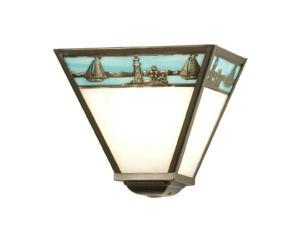 Meyda Tiffany 29114 9 Inch W Lighthouse Wall Sconce