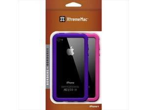 Xtrememac 2243 Xtrememac Borders Iphone4 Case - Pink & Purple