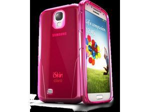 iSkin CLROS4-PK3 Claro Clear Hard With Soft Case For Samsung Galaxy 4, Pink