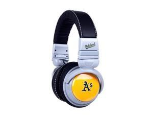 BiGR Audio Xlmlboa1 Mlb Licensed Oakland Athletics Plastic Headphones