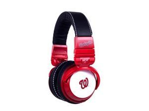 BiGR Audio Xlmlbwn1 Mlb Licensed Washington Nationals Plastic Headphones