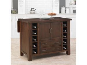 Home Styles 5410-94 Cabin Creek Kitchen Island - Multi-step Chestnut