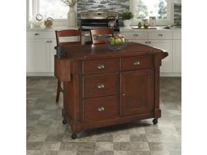 Home Styles 5520-958 The Aspen Collection Kitchen Cart and Two Stools