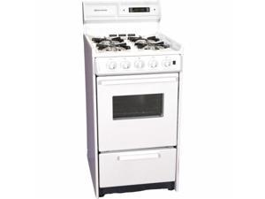 Brown WNM130-7KW 20 in. Electric Ignition Gas Range - White