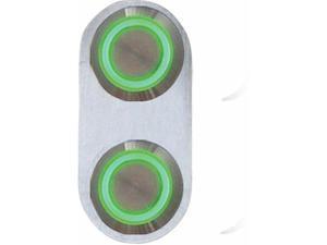 AUTOLOC POWER ACCESSORIES 12541 Daytona Billet Switch with GREEN LED Illumination - Single Switch