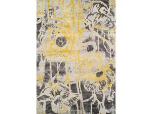 Dalyn MG601LE3X5 3 ft. 3 in. x 5 ft. 3 in. Modern Greys Lemon Area Rug