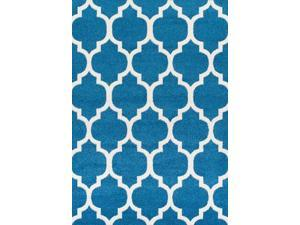 Dalyn FN960TE5X7 4 ft. 11 in. x 7 ft. Finesse Teal Area Rug