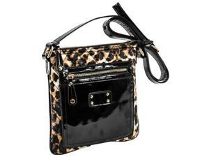 Parinda 11197 EMET Quilted Faux Leather Crossbody Bag - Leopard