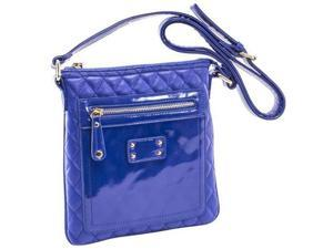 Parinda 11198 EMET Quilted Faux Leather Crossbody Bag - Blue